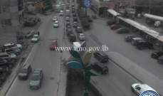 حركة المرور خانقة من مستديرة المكلس باتجاه جسر الباشا بسبب الاشغال