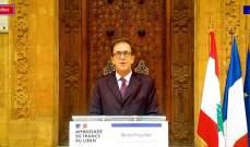فوشيه:تطبيق المسؤولين للاصلاحات سيسمح باستعادة ثقة اللبنانيين والمجتمع الدولي