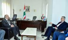 علي زار وهبة: توافقنا على التعاون والخروج من تداعيات الانفجار برؤية مشتركة