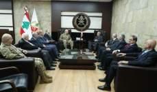 قائد الجيش التقى رئيس رابطة قدماء القوى المسلحة اللبنانية ورئيس الهيئة العليا للإغاثة