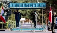 العماد عون إلتقى رئيس الأركان التركي في أنقرة