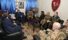 """الصراف زار مقر قيادة القطاع الغربي في """"اليونيفيل"""" في بلدة شمع"""