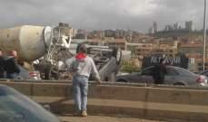 النشرة: زحمة سير بسبب حادث سير مروع على طريق وادي الزينة