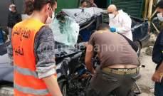 جريح نتيجة اصطدام مركبة بعمود كهربائي على اوتوستراد البوار نحو جبيل