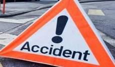 النشرة: 4 جرحى نتيجة تدهور سيارة على طريق عام بعلبك- رياق في الحلانية