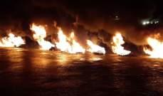 شبان قطعوا طريق الجناح للمطالبة بالعفو العام
