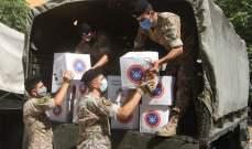 الجيش: مواصلة توزيع مساعدات على المواطنين وإزالة الركام من الشوارع المتضررة
