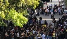 الجيش يفصل بين المتظاهرين ومجموعة من الشبان في منطقة بشارة الخوري