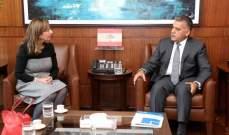 اللواء ابراهيم التقى المديرة العامة لشؤون المفقودين وقائد قوات اليونيفيل