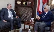 """عميد الخارجية في """"القومي السوري"""" عرض مع زاسبيكين آخر المستجدات"""