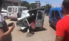 النشرة: 4 جرحى نتيجة حادث سير في مجدل عنجر