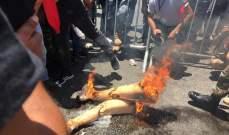 عسكري مقعد من مصابي الحرب أحرق أطرافه الاصطناعية في رسالة إلى النواب
