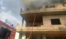 الدفاع المدني: إخماد حريق أتى على حافلة ركاب في اللبوة وآخر شبّ بأثاث قديم في أبلح