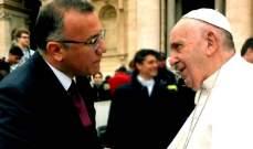 درويش التقى البابا فرنسيس: نأمل منكم ان يبقى لبنان في قلبكم