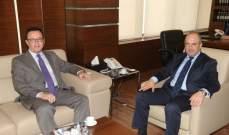 بو عاصي التقى عددا من السفراء المعتمدين في لبنان