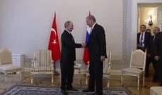 أردوغان: ناقشت مع بوتين توسيع التعاون في قره باغ بضم المزيد من الدول