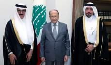 الرئيس عون التقى ممثل الأمير القطري