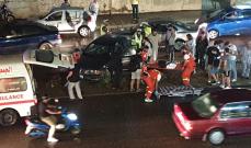 النشرة: جرحى في حادث سير بين أربع سيارات في صيدا