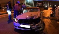 قتيل نتيجة حادث سير بين سيارة ودراجة نارية على طريق المطار - بيروت