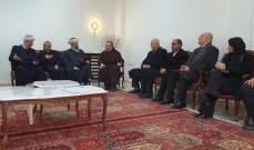 الأب عبود الكرملي التقى مهنئين بانتخابه رئيسا لكاريتاس
