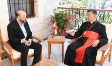 الراعي ناقش مع الرياشي قضية ضرورة حياد لبنان والتقى وفد مجلس إدارة رابطة كاريتاس لبنان