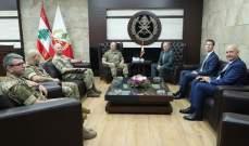قائد الجيش بحث مع جنرال بريطاني ببرنامج المساعدات البريطانية لضبط الحدود البرية
