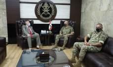 قائد الجيش بحث مع المنسّق الخاص للأمم المتحدة في لبنان الأوضاع العامة في لبنان