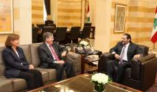 الحريري بحث مع ساترفيلد بآخر المستجدات والأوضاع في لبنان والمنطقة