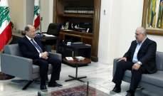 """الرئيس عون يلتقي رئيس كتلة """"الوفاء للمقاومة"""" النائب محمد رعد"""