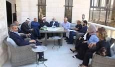 وزير المال زار رئيس بلدية شبعا مقدما التعزية بوفاة والدته