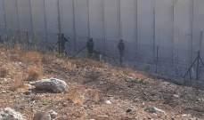 النشرة: قوة اسرائيلية اجتازت الجدار الاسمنتي قبالة العديسة