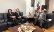 وزير الطاقة عرض مع سفيرتي النروج وسويسرا مواضيع الكهرباء والمياه والنفط