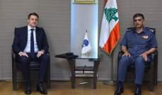 مدير عام قوى الأمن بحث مع رئيس قسم البحث والتدخل بالشرطة الفرنسية بتعزيز التعاون