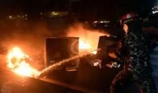 NBN: القوى الامنية تعمل على تفريق المتظاهرين من ساحة الشهداء