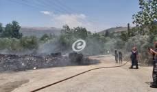 النشرة: إخماد حريق أعشاب يابسة وأشجار في سوق الخان بحاصبيا