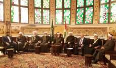المفتي دريان استقبل الهيئة الدائمة لنصرة القدس وفلسطين وموظفي شركة الترابة