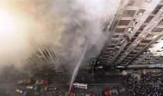 سقوط 19 قتيلا جراء حريق برج تجاري في بنغلادش