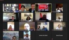 سفير الصين ببيروت يعقد اجتماعا افتراضيا خاصا بلبنان لرجال أعمال من البلدين