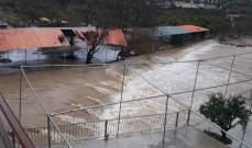 النشرة: ارتفاع منسوب مياه نهر الحاصباني إلى اعلى معدلاته لهذا العام