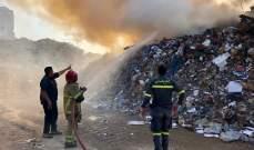 الدفاع المدني: إخماد حريق نفايات وأخشاب وإطارات غير صالحة بمرفأ بيروت