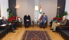 اللواء عثمان استقبل الأب خضرا والعميدين المتقاعدين عبدو نجيم وهادي الخوري