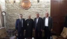 """مستشار رئيس حزب """"القوات"""" زار راعي أبرشية صيدا ودير القمر المطران إيلي الحداد"""