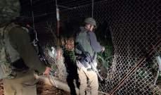 الجيش الإسرائيلي يتفقد الخروقات في السياج على الحدود مع لبنان