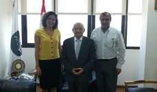 ابي نصر عرض مع قنصل لبنان في أريزونا أوضاع الجالية اللبنانية فيها