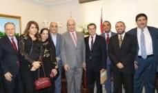 """وفد من دائرة المحامين في """"الحزب السوري القومي"""" هنأ النقيب خلف"""