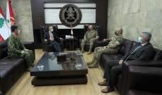 قائد الجيش يستقبل الياباني في لبنان ويبحث التعاون بين جيش البلدين