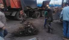 قتيل وعدد من الجرحى بانفجار قذيفة قديمة داخل بورة في منطقة البداوي في طرابلس
