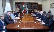 الرئيس عون جدد رفض الاقتراح الاوروبي لدمج النازحين بالمجتمعات المضيفة