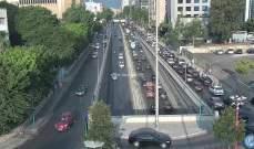 حركة المرور كثيفة من العدلية باتجاه المتحف ومن انطلياس باتجاه بيروت