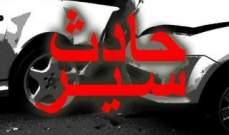 وفاة سوري بانزلاق دراجته النارية على طريق عام كفركلا